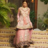 rose pink with tissue lahenga