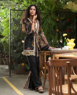 black kimono sleeves coat